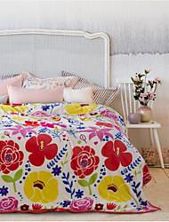 Недорогие -Супер мягкий Цветы Полиэфир одеяла