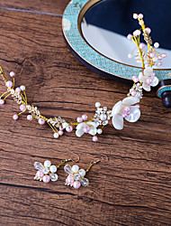 Women's Girls' Floral Fashion Wedding Evening Party Alloy Hair Jewelry Earrings