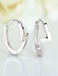 Women's Drop Earrings Hoop Earrings Jewelry Fashion Personalized Stainless Steel Silver Plated Round Jewelry For Daily Casual