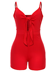 cheap -Women's Going out Club Casual Sexy Solid Strap Rompers