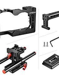 Andoer Aluminum Camera Rabbit Cage  Handle  2 Catheter  Base Set For Sony A6500 Red
