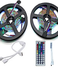 cheap -Strip Light Set  10M LED Light Bar 3528 RGB 600LED 44 Key Remote Control RGB One Out Two