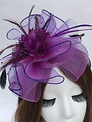 cheap -Feather Net Headbands Fascinators 1 Wedding Party / Evening Headpiece