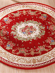 Round Jacquard Carpet Water Absorption Floor Rug Solid Comfortable Mat For Bedroom Parlor Living Room