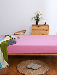 baratos -Confortável Poliéster/Algodão Leçol Raso Simples Sólido Estampado 300 Tc 1pç de Leçol Raso 2pçs Fronhas de Almofada Estampado