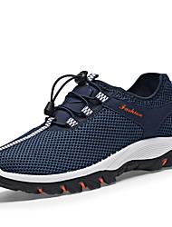 cheap -LEIBINDI Men's Hiking Shoes Rubber Outdoor / Running Anti-Slip, Wearable, Breathability Breathable Mesh Army Green / Dark Gray / Royal