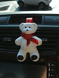 Parada de saída de carro de paraleleira perfume vermelho fita fofos grande urso encontro fragrância oceano sabor purificador de ar