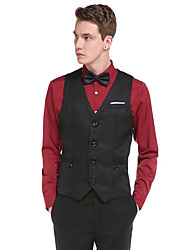 cheap -Men's Daily Simple Casual Winter Fall Regular Vest, Solid V Neck Cotton