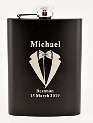 Groom Groomsman Parents Baby & Kids Stainless steel Hip Flasks Flagon