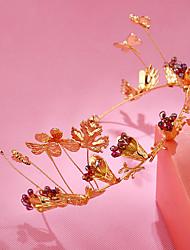 abordables -diadema de aleación de diamantes de imitación tiaras diademas estilo elegante