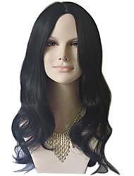 натуральная волна длинная длина черный / коричневый цвет мода ежедневный парик для европейских и американских женщин жаростойкий