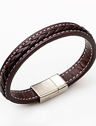 cheap -Men's Women's Leather Bracelet Fashion Simple Style Leather Round Jewelry For Casual
