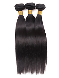 Недорогие -Бразильские волосы Классика Прямой силуэт Ткет человеческих волос 3 предмета Высокое качество Повседневные