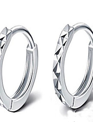 Women's Stud Earrings Hoop Earrings Jewelry Fashion Simple Style Stainless Steel Silver Plated Circle Jewelry For Daily Office & Career