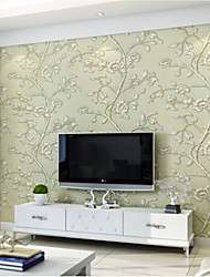 Print 3D Wallpaper For Home Modern/Contemporary Wall Covering , Pure Paper Material Adhesive required Wallpaper , Room Wallcovering
