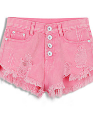 Damebukser  (Denimstof) Shorts - Medium - Mikroelastisk