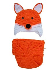 cheap -Fox Girl Hats Kid Halloween Children's Day Festival / Holiday Halloween Costumes Orange Fashion