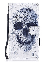 cheap -Case For Huawei P10 Lite Wallet Card Holder with Stand Flip Pattern Magnetic Full Body Skull Hard PU Leather for Huawei P10 Lite Huawei