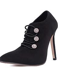 preiswerte -Damen Schuhe Kunstleder Winter Herbst Komfort Neuheit Pumps Stiefel Stöckelabsatz Reißverschluss für Hochzeit Normal Kleid Party &