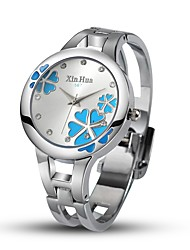 cheap -Women's Fashion Watch Simulated Diamond Watch Unique Creative Watch Chinese Quartz Alloy Band Bangle Silver