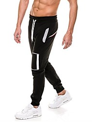 cheap -Men's Running Pants Breathable Comfortable Pants / Trousers Running/Jogging Casual Exercise & Fitness Polyester Slim Black Dark Grey Grey