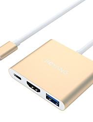 economico -USB 3.0 / HDMI / Type-C Adattatore cavo USB 1 a 3 Adattatore Per Macbook / MacBook Pro 22.5 cm Alluminio / PVC