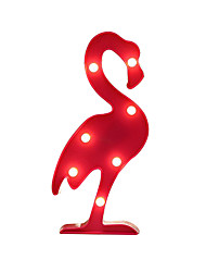 BRELONG 3D Warm White Kids Room Decoration Night Light Christmas Light Wedding Decorative Light - Flamingo