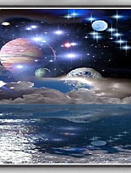 abordables -el planeta de la fantasía stars la pintura de seda de la decoración del hogar del cartel del arte del espacio