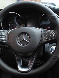 Недорогие -автомобильный Чехлы на руль(Кожа)Назначение Mercedes-Benz Все года GLC Класс E Класс C Класс B B200