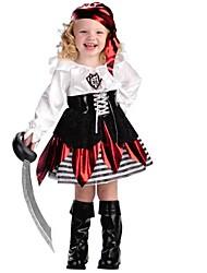 Pirate Costumes de Cosplay Enfant Halloween Fête / Célébration Déguisement d'Halloween Noir Mode