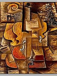 Недорогие -скрипка 100% ручная роспись современных картин маслом современное искусство настенного искусства для украшения комнаты
