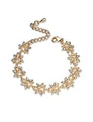 Per donna Bracciali a catena e maglie Diamante sintetico Chrismas Classico Strass Lega Di forma geometrica Gioielli Per Fidanzamento