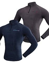 baratos -Realtoo Unisexo Jaqueta Fleece de Trilha Ao ar livre Inverno Respirabilidade Inverno Jaquetas em Velocino / Lã Pequeno Zíper 7 polegadas