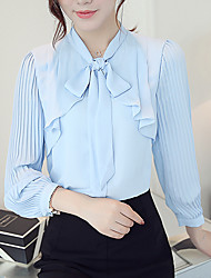cheap -Women's Going out Casual Cotton Blouse - Solid Colored