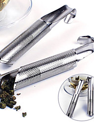 cheap -1PC Tea Infuser Stainless Steel Strainer Pipe Holder Tea Spoon Filter Tea Tools Accessories