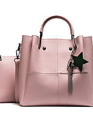 cheap -Women Bags PU Bag Set Flower(s) for Outdoor Office & Career All Seasons Black Red Blushing Pink Army Green Khaki