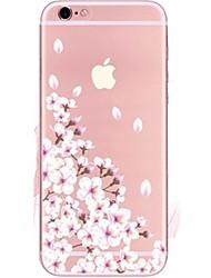 Para iPhone 7 iPhone 7 Plus Case Tampa Ultra-Fina Transparente Estampada Capa Traseira Capinha Flor Macia PUT para Apple iPhone 7 Plus