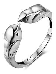 Жен. Ногтем кольца Кольцо на кончик пальца Животный дизайн Стерлинговое серебро Птица Бижутерия Назначение Новый год