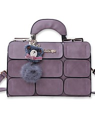 cheap -Women Bags PU Shoulder Bag for Casual Office & Career All Seasons Black Gray Purple Dark Red