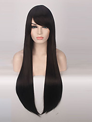 cheap -Synthetic Wig Straight Synthetic Hair Black Wig Women's Long Capless