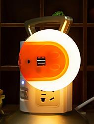 умный светодиодный ночник с датчиком света и адаптером для зарядного устройства для мобильных телефонов iphone 7 6s