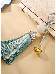 saco / telefone / chaveiro charme jingle bell cristal / estilo de strass borla brinquedo cartoon poliéster nylon estilo chinês 15cm
