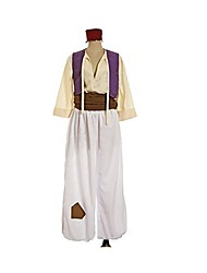 Inspired by Cosplay Aladdin Anime Cosplay Costumes Cosplay Suits Geometic Vintage Long Sleeves Vest Belt Hats More Accessories Hakama