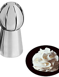 1PC Stainless Steel Torch Flower Mouth Icing Nozzles Cake Cookie Decorating Tool Russia Spherical