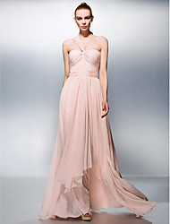 A-Line One Shoulder Sweetheart Floor Length Chiffon Prom Dress by TS Couture®