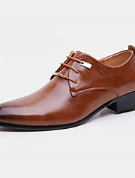 cheap -Men's Shoes Leatherette Spring Fall Formal Shoes Oxfords Rivet for Office & Career Party & Evening Black Brown