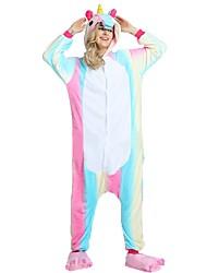 cheap -Adults' Kigurumi Pajamas with Slippers Unicorn / Flying Horse Onesie Pajamas Costume Flannel Fabric Rainbow Cosplay For Animal Sleepwear Cartoon Halloween Festival / Holiday / Christmas