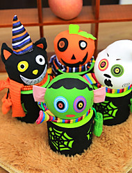 Citrouille Halloween Decorations Candy Jar Gift Bags Pumpkin Bags Halloween Sacks Hallowmas Gift For Kids Event Party Supplies19*9cm