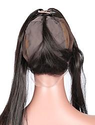 Недорогие -360 кружева фронтальная с крышкой парика свободная часть прямые малайзийские человеческие волосы remy волосы 10-20