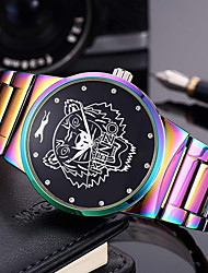 cheap -Men's Women's Wrist watch Bracelet Watch Fashion Watch Chinese Quartz Large Dial Punk Stainless Steel Band Charm Luxury Creative Rainbow
